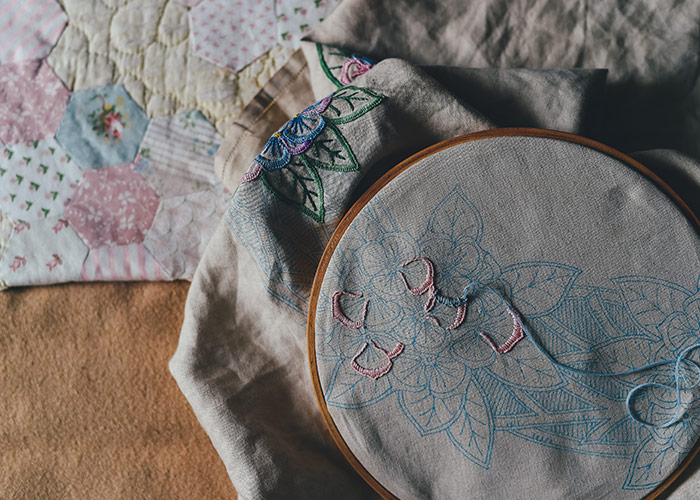Focus on embroidery craft